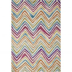 Nova Rug Machine Woven Stripe Rug - Multi 21
