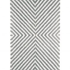 Onix Hand Woven and Printed Stripe Rug - Grey 01