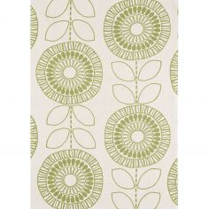 Onix Hand Woven and Printed Floral Rug - Green 03