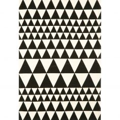 Onix Hand Woven and Printed Geometric Rug - Black 06
