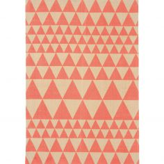 Onix Hand Woven and Printed Geometric Rug - Flame Red 07