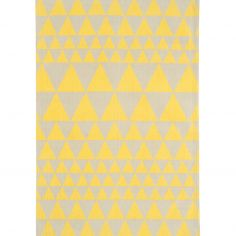 Onix Hand Woven and Printed Geometric Rug - Yellow 08
