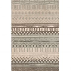 Onix Hand Woven and Printed Geometric Rug - Grey Multi 10