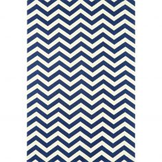 Onix Hand Woven and Printed Stripe Rug - Blue 12