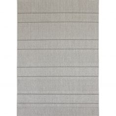 Patio Machine Woven Geometric Rug - Beige 03