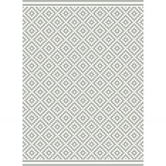 Patio Machine Woven Geometric Rug - Grey 11