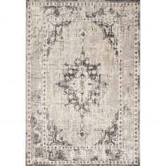 Revive Machine Made Floral Rug - Grey 02