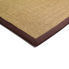 Sisal Machine Woven Plain Runner - Chocolate Brown
