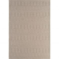 Sloan Hand Woven Geometric Runner - Taupe