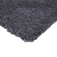Spiral Shaggy Table Tufted Plain Rug - Charcoal Grey