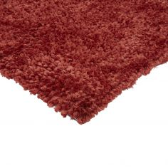 Spiral Shaggy Table Tufted Plain Rug - Coral Red