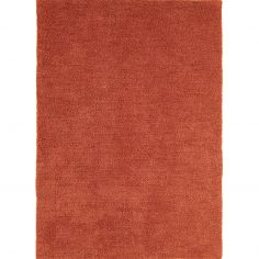 Tula Table Tufted Plain Rug - Rust Terracotta Orange