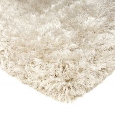 Plush Hand Woven Plain Rug - Pearl Cream