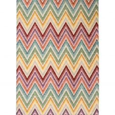 Verve Machine Woven Geometric Stripe Rug - Multi 04