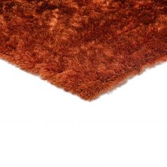 Whisper Table Tufted Plain Rug - Rust Burnt Orange
