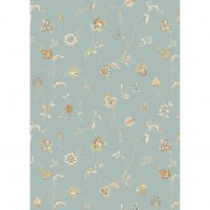 Xico Machine Woven Floral Rug - Blue Multi 07