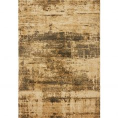 Yale Gabbeh Style Rug Machine Woven Plain Rug - Sandstone Natural