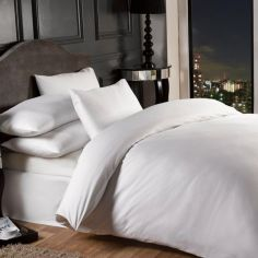 Grosvenor 1000TC Cotton Rich Duvet Cover Set  - White