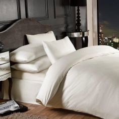Grosvenor 1000TC Cotton Rich Duvet Cover Set  - Cream