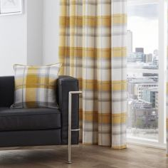 Birkdale Check Cushion Cover - Ochre Yellow