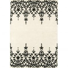 Matrix Hand Tufted Floral Rug - White 06