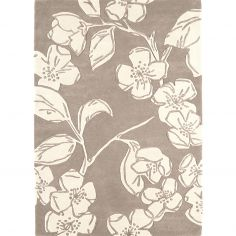 Matrix Hand Tufted Floral Rug - Taupe 14
