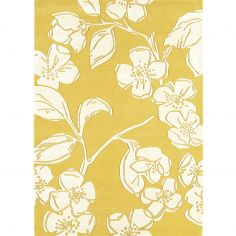 Matrix Hand Tufted Floral Rug - Yellow 15