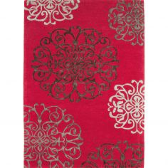 Matrix Hand Tufted Floral Rug - Red Multi 45