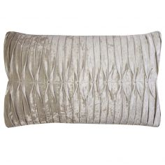 Kylie Minogue Atmosphere Crushed Velvet Filled Boudoir Cushion - Ivory Cream