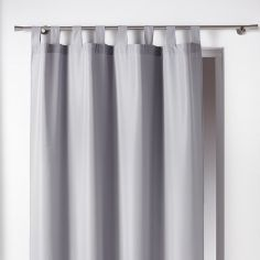 Essentiel Plain Tab Top Single Curtain Panel - Silver Grey