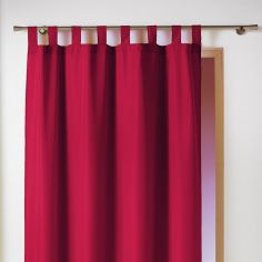 Essentiel Plain Tab Top Single Curtain Panel - Red