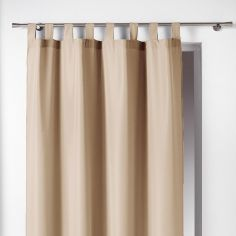 Essentiel Plain Tab Top Single Curtain Panel - Beige