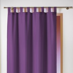 Essentiel Plain Tab Top Single Curtain Panel - Purple