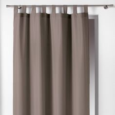 Essentiel Plain Tab Top Single Curtain Panel - Taupe