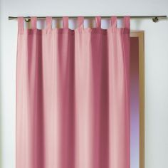 Essentiel Plain Tab Top Single Curtain Panel - Candy Pink