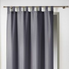 Essentiel Plain Tab Top Single Curtain Panel - Grey