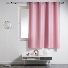 Essentiel Plain Single Curtain Panel with Plastic Eyelets - Candy Pink