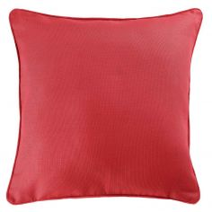Plain 100% Cotton Panama Cushion Cover - Coral Pink