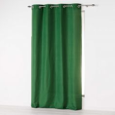 Absolu Plain Eyelet Single Curtain Voile Panel - Green