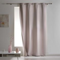 Covery Insulating Thermal Blackout Single Curtain Panel with Eyelets - Beige