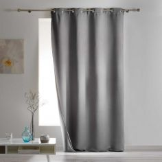 Covery Insulating Thermal Blackout Single Curtain Panel with Eyelets - Grey