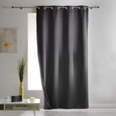 Covery Insulating Thermal Blackout Single Curtain Panel with Eyelets - Charcoal Grey