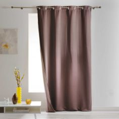 Covery Insulating Thermal Blackout Single Curtain Panel with Eyelets - Taupe