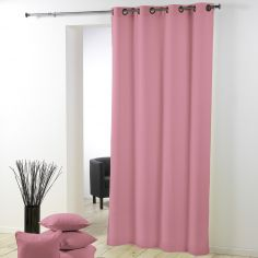 Essentiel Plain Single Curtain Panel with Metal Eyelets - Candy Pink