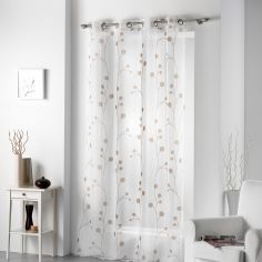 Clochettes Printed Eyelet Voile Panel - Taupe