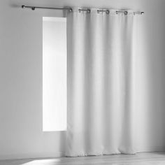 Opacia Embossed Velvet Blackout Single Curtain Panel with Eyelets - White