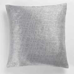 Opacia Embossed Velvet Cushion Cover - Silver Grey