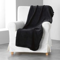 Louna Plain Soft Throw - Black