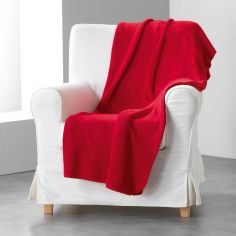 Louna Plain Soft Throw - Red