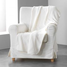 Louna Plain Soft Throw - Beige